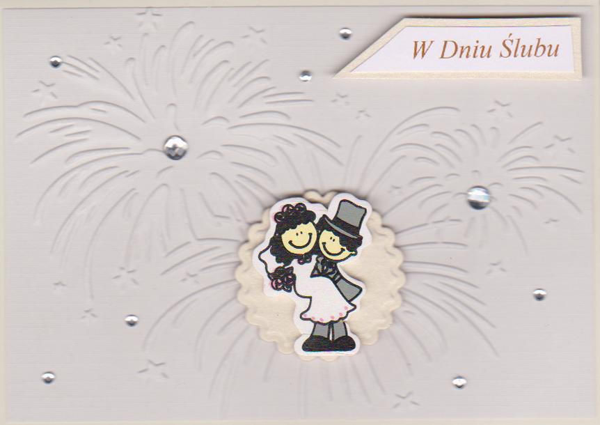 ręcznie robione kartki ślubne rękodzieło